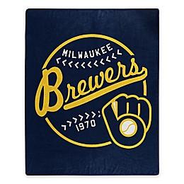 MLB Milwaukee Brewers Jersey Raschel Throw Blanket