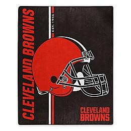 NFL Cleveland Browns Royal Plush Raschel Throw