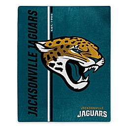 NFL Jacksonville Jaguars Royal Plush Raschel Throw