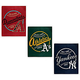 MLB Jersey Raschel Throw Blanket Collection