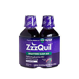 Vicks® ZzzQuil™ 2-Pack Nighttime Sleep Aid Warming Berry Liquid 12 oz.