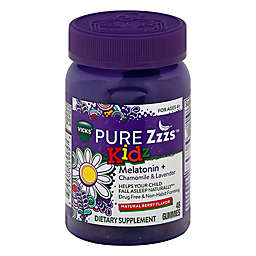 Vicks® PURE Zzzs™ Kidz 48-Count Melatonin, Chamomile and Lavender Gummies in Natural Berry