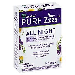 Vicks® ZzzQuil™ Pure Zzzs™ 14-Count All Night Extended Release Melatonin Tablets