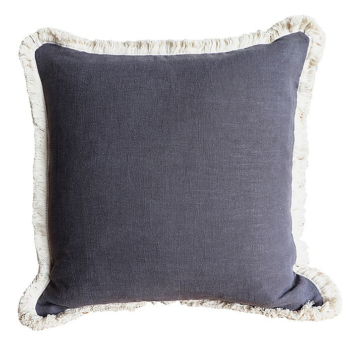Alternate image 1 for Wamsutta® Bellingham Square Throw Pillow in Charcoal