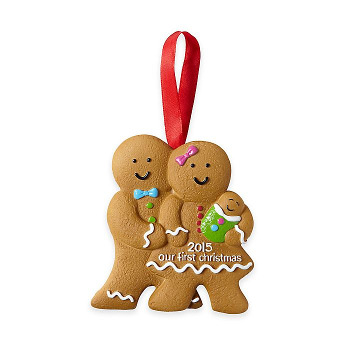 Pearhead First Christmas Gingerbread Family Holiday ...