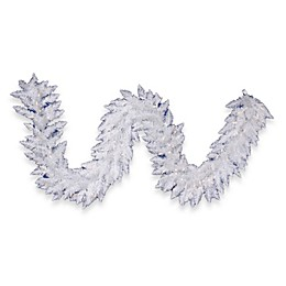 Vickerman 9-Foot x 14-Inch Sparkle White Spruce Pre-Lit Garland with Clear Lights