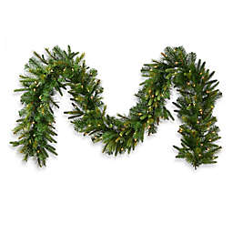 Vickerman Cashmere Pine 14-Inch Pre-Lit Garland with Clear Lights