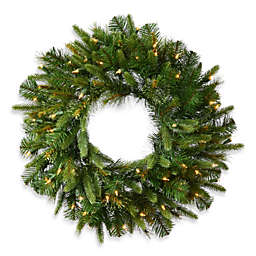 Vickerman 48-Inch Cashmere Pine Pre-Lit Christmas Wreath with Clear Lights