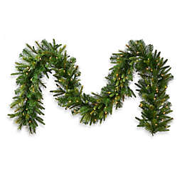 Vickerman 6-Foot Cashmere Pine 14-Inch Pre-Lit Garland with White Lights and Timer