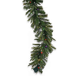 Vickerman 6-Foot Cashmere Pine 14-Inch Pre-Lit Garland with Multicolor Lights and Timer