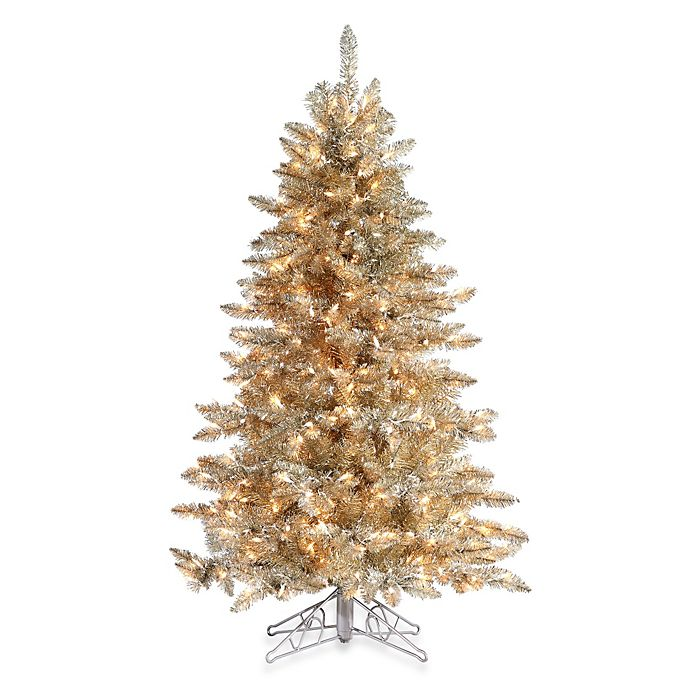 5 foot hard needle frosted pre lit artificial columbus pine tree