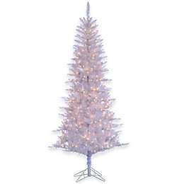 7 ½-Foot Silver Tiffany Artificial Pre-Lit Tinsel Tree