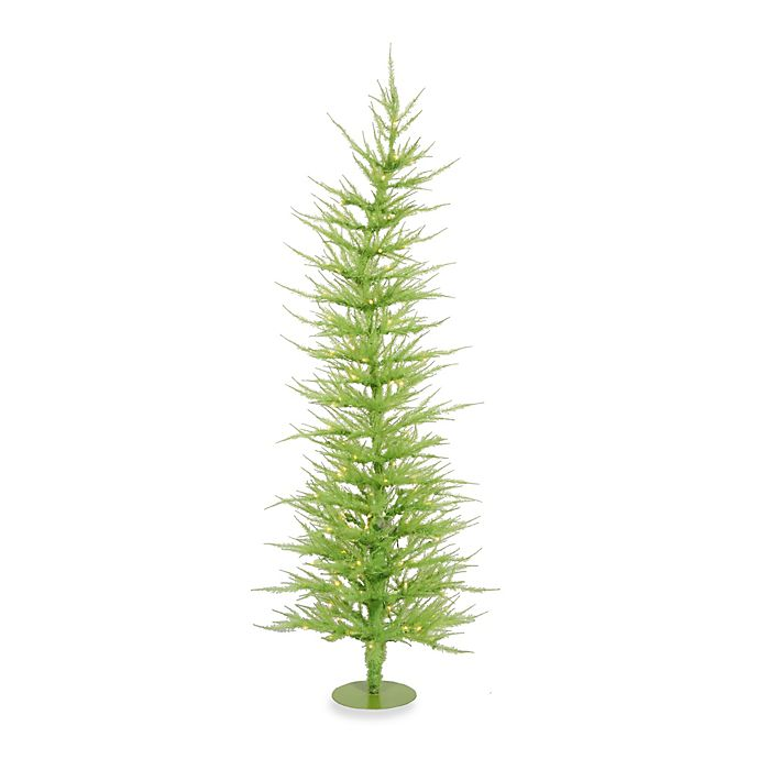 Vickerman 6 Foot Chartreuse Laser Pre Lit Christmas Tree