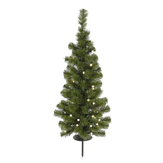 wholesale dealer f3e43 d9652 Vickerman Solar-Powered Christmas Tree with Clear LED Lights