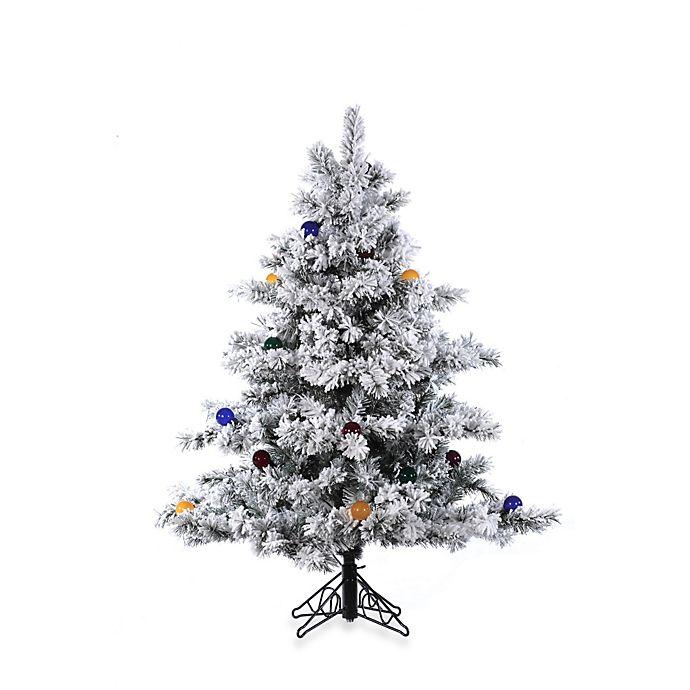 Buy Vickerman 4.5-Foot Flocked Alaskan Pine Christmas Tree ...
