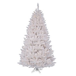 Vickerman 4-Foot 6-Inch Sparkle White Spruce Pre-Lit Christmas Tree with White Lights