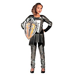 Snow Warrior Child's Halloween Costume in Silver