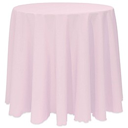 Basic Round Tablecloth in Ice Pink