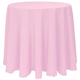Basic Round Tablecloth in Pink Balloon