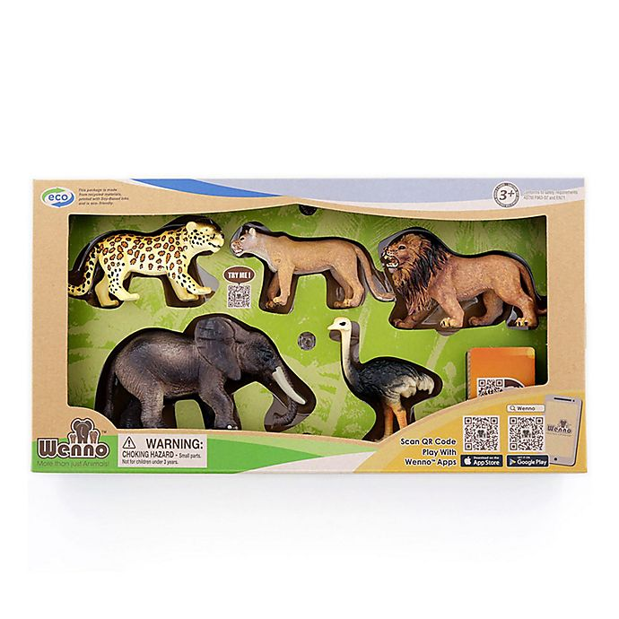 Alternate image 1 for Wenno™ Africa Jungle Safari Series 1 Animals Toy Set