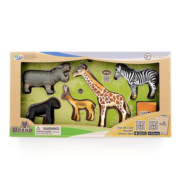 Alternate image 1 for Wenno™ Africa Jungle Safari Series 2 Animals Toy Set