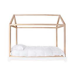 Nico & Yeye Domo Twin Canopy Bed in Maple