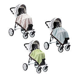 SwaddleDesigns® Stroller Blanket With Brown Mod Circles