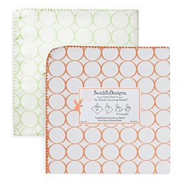 SwaddleDesigns® Ultimate Receiving Blanket with Mod Circles on White