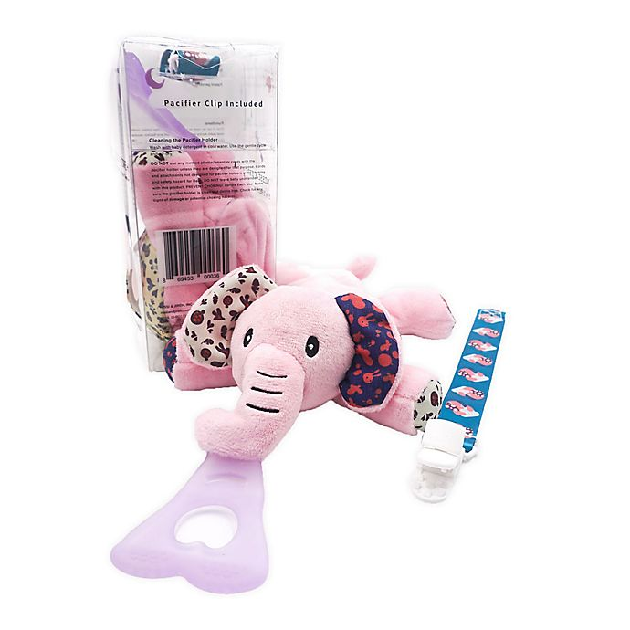 Alternate image 1 for Nissi & Jireh® Pink Elephant 4-in-1 Teething Toy and Detachable Pacifier Holder