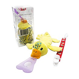 Nissi & Jireh® Duck 4-in-1 Teething Toy and Detachable Pacifier Holder