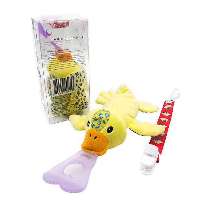 Alternate image 1 for Nissi & Jireh® Duck 4-in-1 Teething Toy and Detachable Pacifier Holder