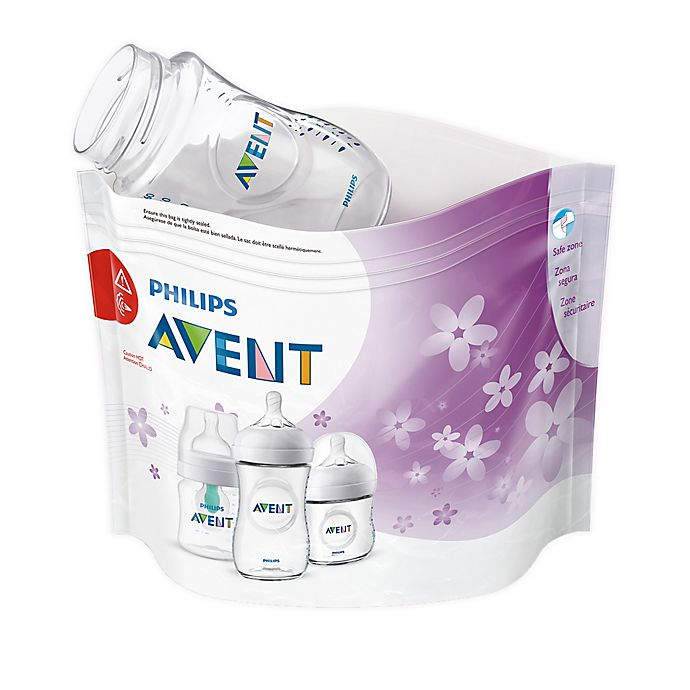 Alternate image 1 for Philips Avent 12-Pack Microwave Steam Sterilizer Bags in Clear
