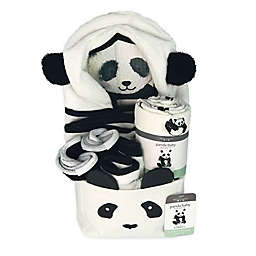 Bedvoyage Panda Comfort Essentials Gift Set in Black/White