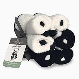 Bedvoyage 6-Pack Panda Baby Washcloths in Black/White