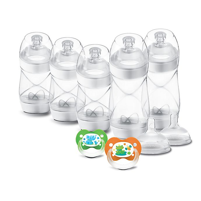 Alternate image 1 for Playtex® VentAire 9-Piece Newborn Feeding Gift Set in Clear/White