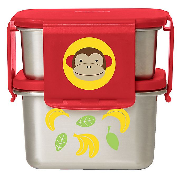 Alternate image 1 for SKIP*HOP® Monkey 2-Piece Stainless Steel Lunch Kit
