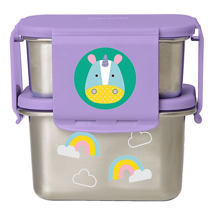 Alternate image 1 for SKIP*HOP® Unicorn 2-Piece Stainless Steel Lunch Kit