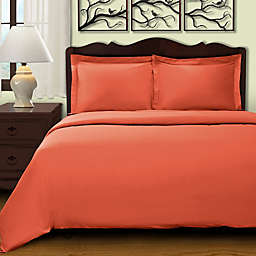 Cochran Solid 2-Piece Twin Duvet Cover Set in Pumpkin