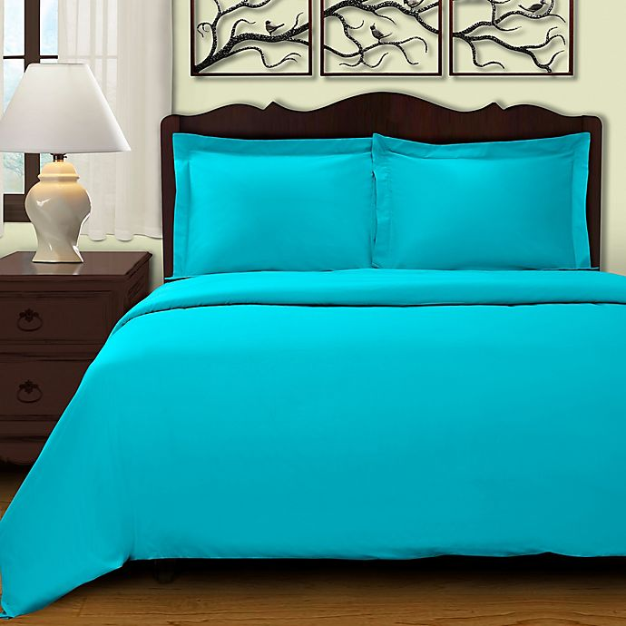 Alternate image 1 for Cochran Solid 3-Piece King/California King Duvet Cover Set in Teal