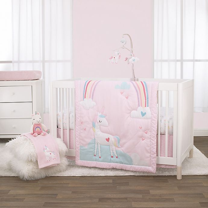 Alternate image 1 for Little Love by NoJo® Rainbow & Unicorn Whimsy Nursery Bedding Collection