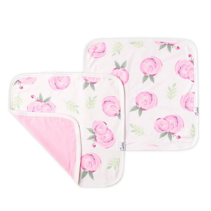 Alternate image 1 for Copper Pearl™ Grace 2-Pack Three-Layer Security Blankets in Pink Flower