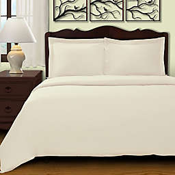 Cochran Solid 2-Piece Twin Duvet Cover Set in Ivory