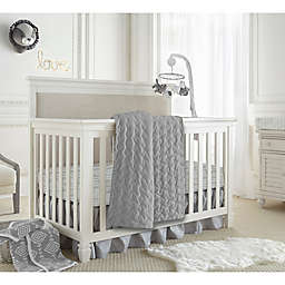 LEVTEX BABY Heritage 4-Piece Velvet Bedding Set in Grey