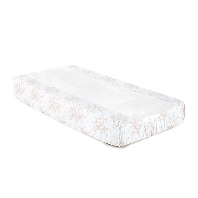 Alternate image 1 for Levtex Baby® Heritage Floral Changing Pad Cover in Blush/Ivory