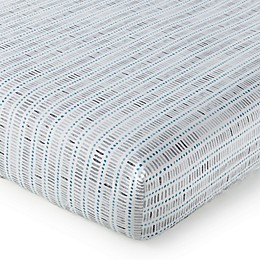 Levtex Baby® Heritage Stripe Fitted Crib Sheet in Blue/Grey
