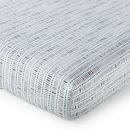 Levtex Baby® Heritage Organic Cotton Stripe Fitted Crib Sheet in Blue/Grey