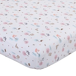 Carter's Woodland Girl Fitted Crib Sheet in Pink