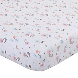 Carter's Woodland Girl Mini Fitted Crib Sheet in Pink