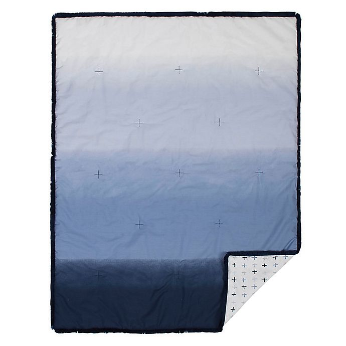 Alternate image 1 for just born® Dream Ombre Quilt in Blue