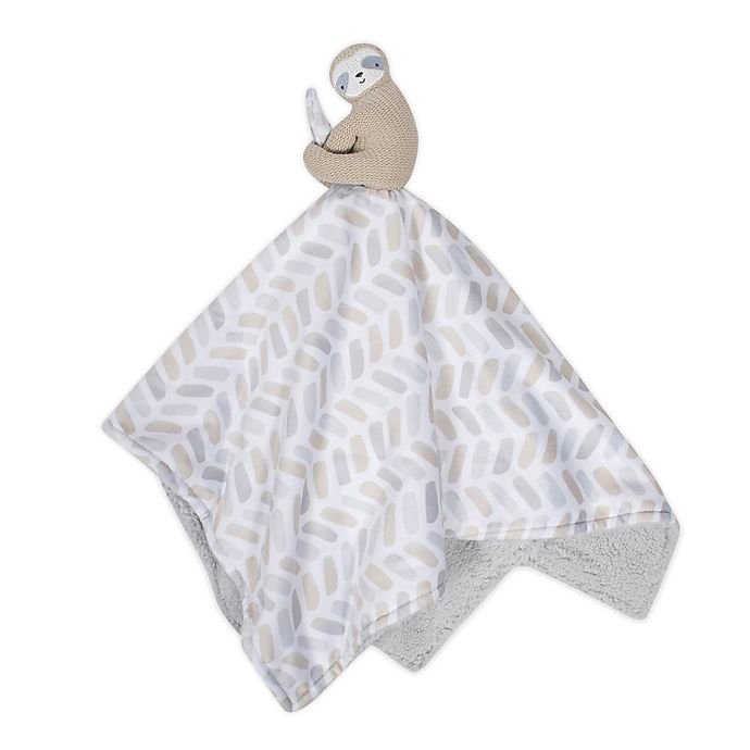 Alternate image 1 for just born® Dream Ombre Sloth Security Blanket in Grey